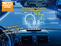 Lescars Head-up-Display HUD-55C für OBD2-Anschluss