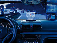 Lescars Head-up-Display mit Bluetooth HUD-55C.bt für OBD2-Anschluss